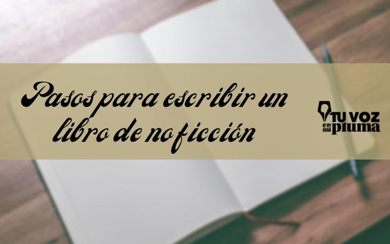 pasos para escribir un libro de no ficción
